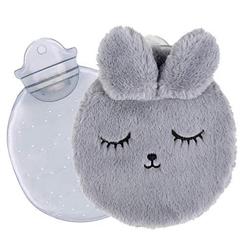 Wärmflasche Kinder,Wärmeflasche mit kuschelweichem,Wärmflasche mit weichem Bezug,Wärmflasche Baby,300ML Wärmflaschen für den Hand Fuß Körper Warmhalten,Weihnachten Wintergeschenke für Familie, Freunde