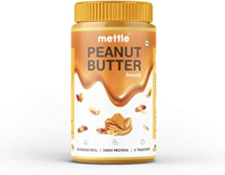 swasthum Mettle 100% All Natural Peanut Butter Creamy (Smooth), 907g (Unsweetened, Non-GMO, Gluten Free, Vegan)