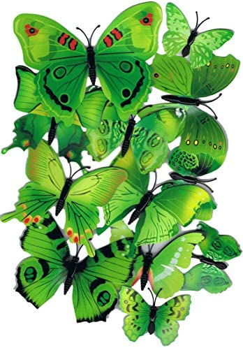 Jubilant Enterprise JE 12PCS 3D Colorful Butterfly Wall Stickers DIY Art D cor Crafts for Party product image