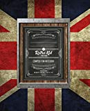 Retro Kid - Composition Notebook, College Ruled: 200 pages (9-3/4' x 7-1/2): Edition - Vintage Retro Union Jack UK Flag - Great Britain