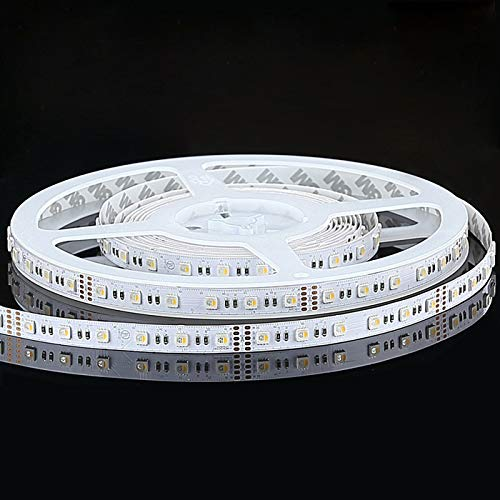 LUMIPRO UL Listed Indoor 4 in 1 LED Strip, 12VDC, 14.4w/m, 60pcs LEDs, RGB+White 3000K, (W)12mm(L)5m with Adhesive