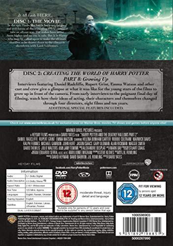 Harry Potter and the Deathly Hallows - Part 2 [Year 7] [2016 Edition 2 Disk] [DVD] [2011]