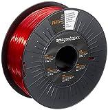 AmazonBasics - Filamento per stampanti 3D, in PETG, 1,75mm, rosso traslucido, 1 kg per bobina