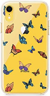 LALAPOPO for iPhone 11 Pro Max Butterfly Case, Cute Transparent Clear Design Soft TPU Slim Flexible Silicone Cover Phone C...