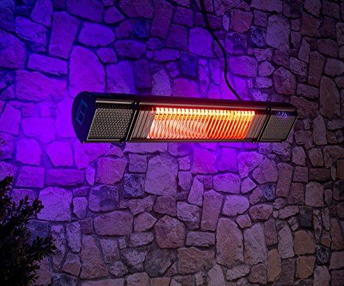 Semptec Urban Survival Technology Semptec Elektroheizung: Low-Glare-IR-Heizstrahler mit Bluetooth, Lautsprecher & App, 2.000 W (Decken-Infrarot-Heizstrahler) - 8