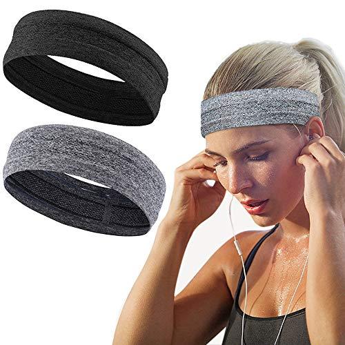 Nuluxi Sport Stirnband Atmungsaktiv Schweißband Sport Rutschfeste Kopf Band Atmungsaktiv Sportliche Stirnband Wicking Stirnband Sport Stirnbänder Headwear Haarband für Laufen Radfahren Yoga Basketball