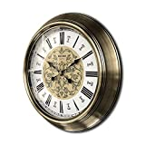 JIA Xing Reloj de Pared Grande de la Sala de Estar del hogar Retro Reloj de Cuarzo Grande Reloj Pared