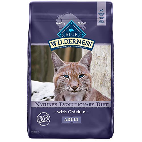 Blue Buffalo Wilderness High Protein Grain Free Natural Adult Dry Cat Food, Chicken 12-lb