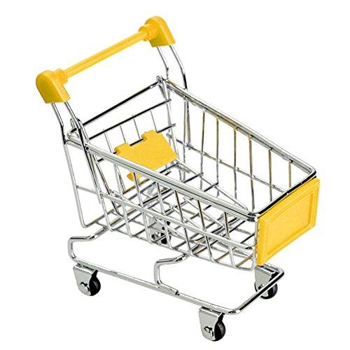 Alextry Mini-Bollerwagen für Einkaufswagen, Einkaufswagen, Stauraum gelb