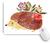 ECOMAOMI 可愛いマウスパッド 美しい手描きのハリネズミ 滑り止めゴムバッキングマウスパッドノートブックコンピュータマウスマット