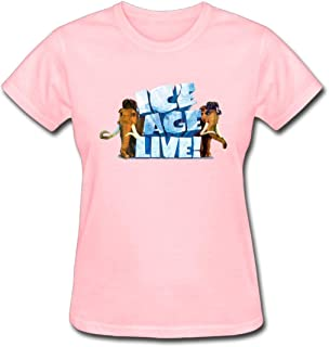 Refined Ice Age Collision Course Love 2016 Women's Cotton Short Sleeve T-Shirt