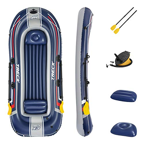 Bestway Unisex-Youth BW61110-21 Hydro-Force Treck - Barco Inflable para 3 Personas, Bote de Goma, Azul, Talla única
