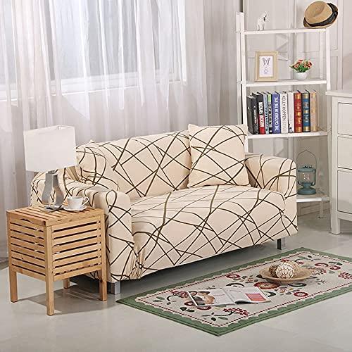 Funda de sofá elástica Funda de sofá Universal Suave Funda de sofá para decoración de Sala de Estar Funda de sofá Caliente Estilo decoración del hogar A20 4 plazas