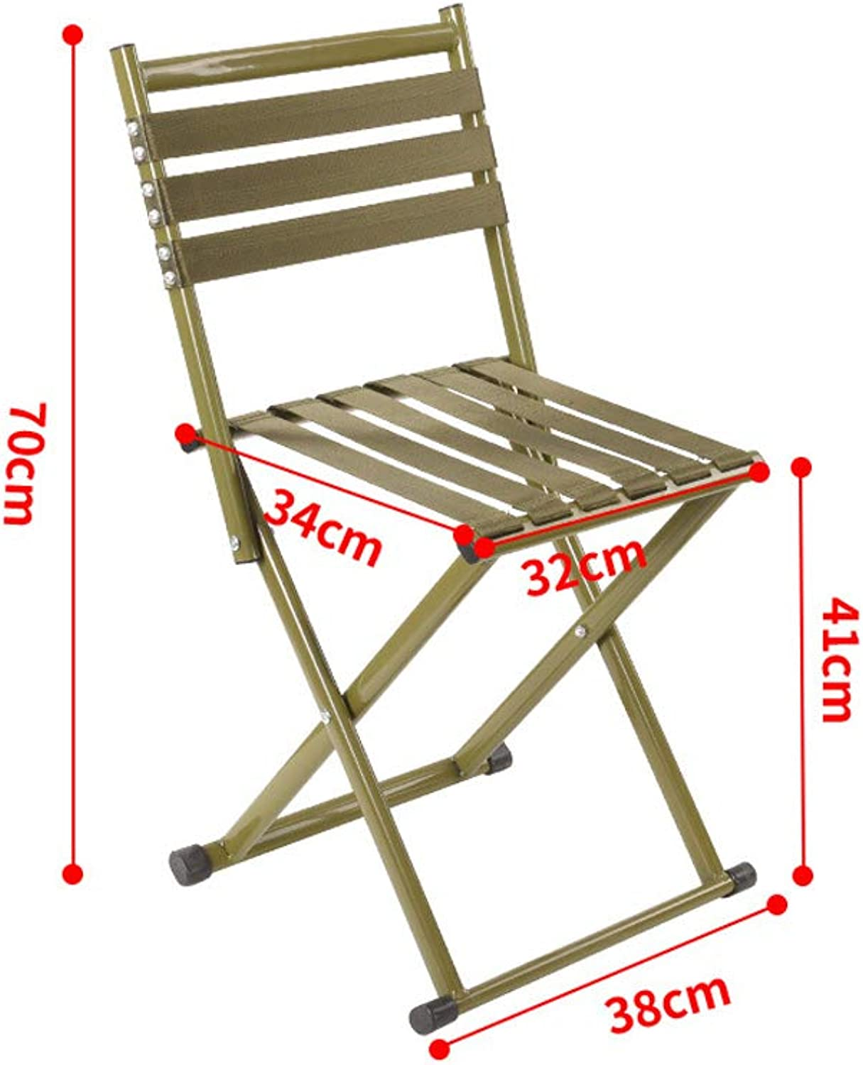 XHLZDY Lightweight Camping Chair,Outdoor Portable Folding Stool Small Stool Fishing (Size   B)