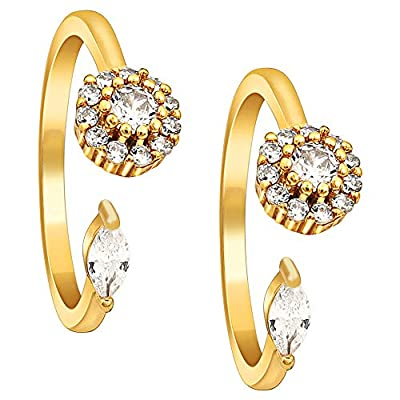 MUCH-MORE Partywear Collection Beautiful Pair Of Toe Ring For Women/Girls