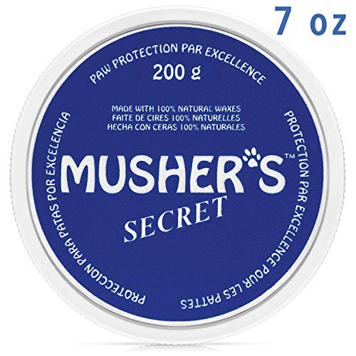 Musher's Secret Dog Paw Wax (7 Oz): All Season Pet Paw Protection Against Heat, Sand, Snow. with Beeswax, Great for Dogs, Cats, Horses, and Chickens