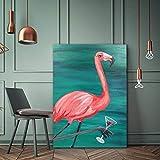 yaonuli Art Amour Oiseau Verre à vin Affiche Toile Peinture Mur Art Salon Chambre décoration Moderne Image sans Cadre Peinture 30x45 cm