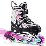 Best Girls Inline Skates - Gonex Inline Skates for Girls Boys Kids, Adjustable Review