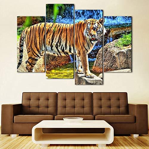 WSNDGWS Home Decoration Quad Tiger Hd Decoratief schilderij zonder fotolijst