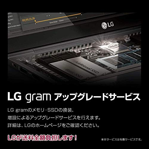 LGノートパソコンgram999g/バッテリー約22時間/第10世代Corei5/14インチ/メモリ8GB/SSD256GB/Thunderbolt3/ダークシルバー/14Z90N-VR52J(2020年モデル)