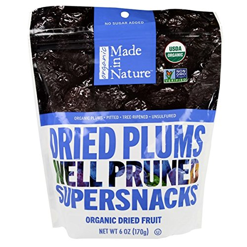 Made in Nature Organic Prunes, 6-ounce Bags (Case of 12)