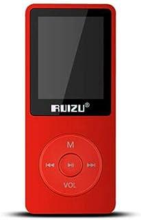 TZOU RUIZU X02 8GB 1.8 Inch Screen MP3 Player with FM E-Book Clock Data red 8GB
