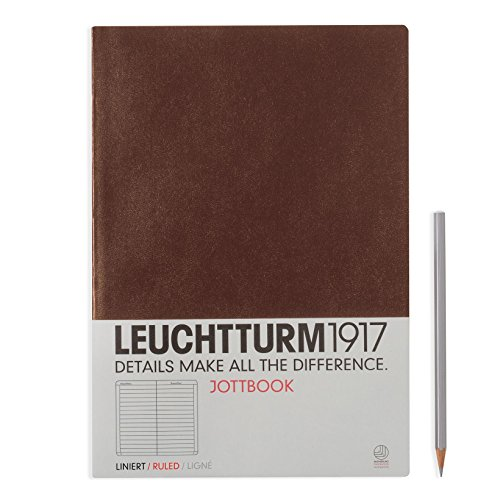 LEUCHTTURM1917 341498 Jottbook, Notizheft, DIN A4, Schokolade, Liniert