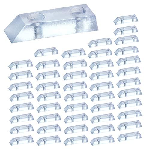 LEZED Möbel Gummifüße Gummipuffer Gummifüße Schraubbar Möbelfuß Tischfüße Gummi Anschlagdämpfer Gummifuß Schutzpuffer Gummifuesse Pads für Möbelstuhl Stuhl Tabelle 48 Stück Transparent Ohne Schrauben