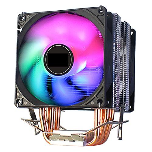 CPU Cooler 4 Tubo de Calor de Cobre Puro Torres de enfriamiento Sistema de enfriamiento 3PIN 9CMCPU Ventilador de refrigeración Radiador CPU para AMD Intel 2011 x79 x99