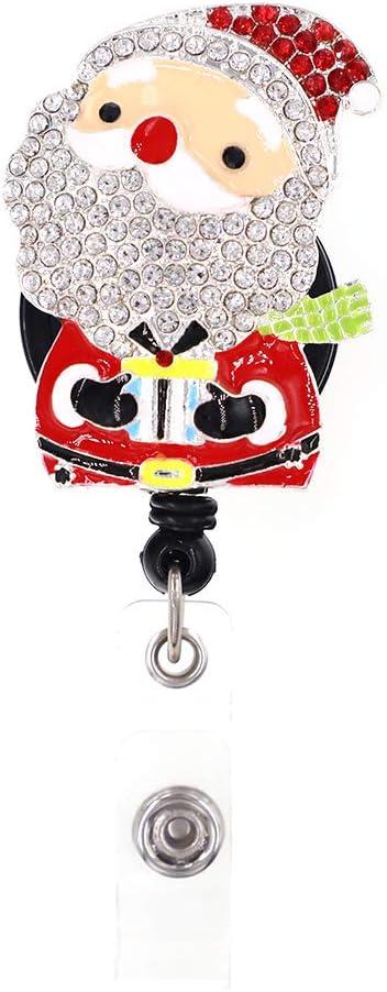 Very popular! Cute Rhinestone Retractable Badge Max 51% OFF Holder Nur Name Card ID