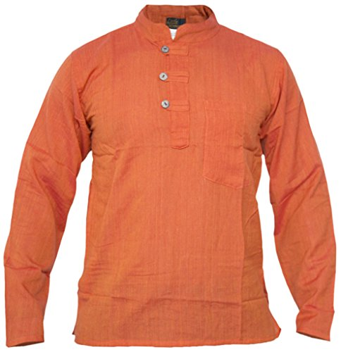 Little Kathmandu, Grandad, diseño hombre de algodón luz Festival verano camisas Tops Kurtas