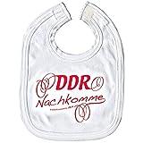 Baby-Lätzchen mit Druckmotiv - DDR Nachkomme - 07031 weiß