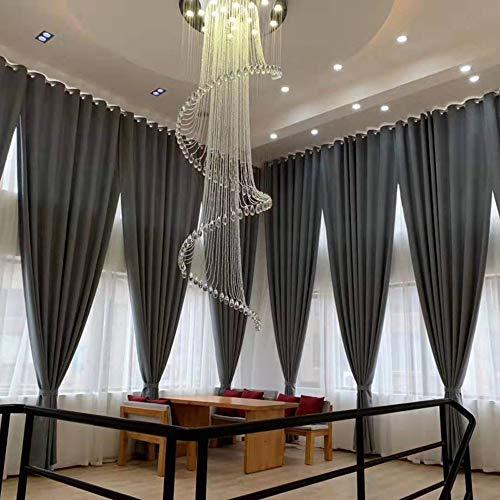 Luxus Kristall Treppen Flur Hängleuchte LED Warmweiß 3000K Hängelampe Wohnzimmer Esszimmer Lampe Decke Hängende Leuchte Moderne Romantisch Loft Treppenhaus Kronleuchter,D60xh160cm
