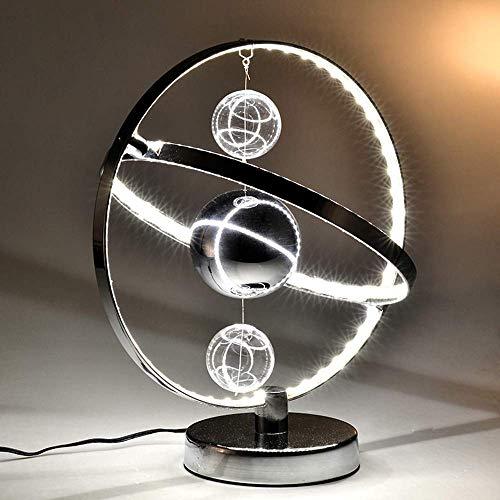 Lámpara Escritorio Lámpara de mesa nórdica, moderna, moderna y creativa, lámpara de mesa de estudio, lámpara de noche, lámpara decorativa de lujo, 28 * 32 cm (color:luz cálida) ( Color : Luz blanca )