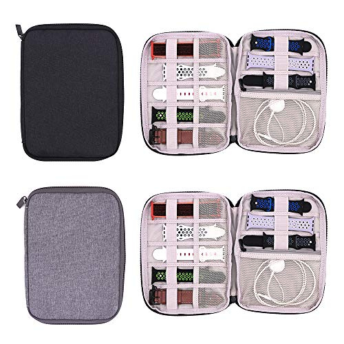 PINHEN Watch Band Storage Bag,Watch Straps Carrying Case Watch Band Storage Case Pouch for Most Sizes of Watch Bands (Gray, S)