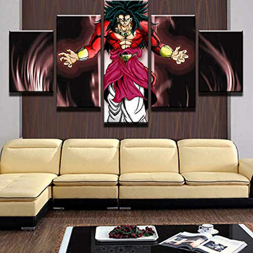 Imprime Cuadros Home Wall Art Modular 5 Panel Poster en Lienzo Moderno Living Room Decor