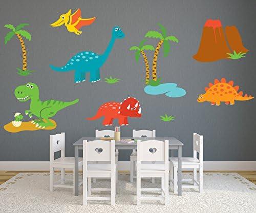 Amazon Com Dinosaur Theme Wall Decal Nursery Wall Decals Baby Room Wall Decor Dinosaur Stickers Pinkie Penguin 80w X 50h Baby