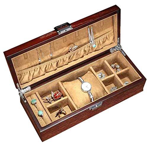 Organizador de joyas Reloj Estuche for exhibir 8 Secciones Estuche de almacenamiento...