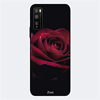 ZOOT Protective Printed Case Cover For Huawei Enjoy 20 Pro Dark Red Rose,Thermoplastic Polyurethane Slim fit Clear Protect...