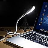 Luz LED para teclado de computadora portátil, USB Lámpara Luz de LED con Interruptor Táctil, ultra brillante 14 LED Mini lámpara USB portátil para computadora portátil PC Ordenador para Leer Libros