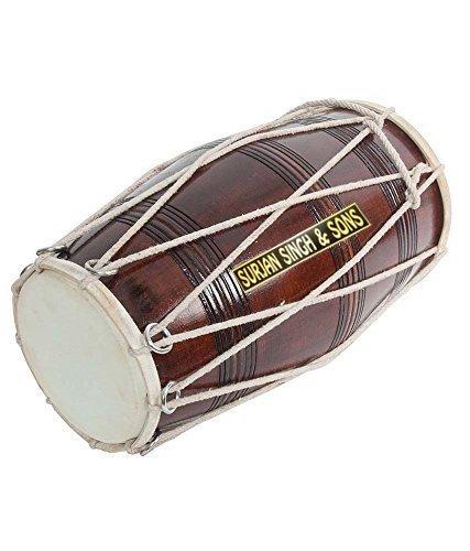 Surjan Singh & Sons Brown Musical Dholak With Dori