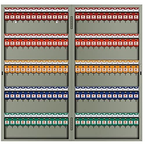 Armario para Llaves Cerradura con llave (24,32,48,72,96,120) Posición Caja de cerradura para armario de llaves,material de placa de acero laminado en frío,adecuado para gabinete de gestión de armario