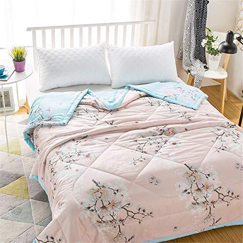 Fansu Tagesdecke Bettüberwurf Steppdecke Mikrofaser Doppelbett Einselbetten Gesteppt Bettwäsche Sofaüberwurf Wohndecke Bettdecke Stepp Gesteppter Quilt (Pinke Blume,140x200cm)
