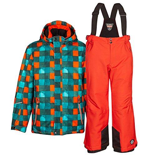 Killtec Kinderskianzug Skijacke Skihose für Mädchen & Jungen zur Farb- und Größenwahl (orange, 140)