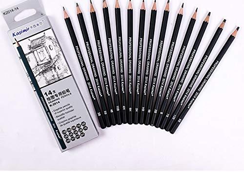 Professional Drawing Sketching Pencil Set for Art Students & Beginners Contain 14 Pieces,12B 10B 8B 7B 6B 5B 4B 3B...