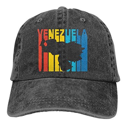 tyui7 Venezuela Retro, Estilo de los años 70, para Mujer, Vaqueros Ajustables, Gorra de béisbol, Mezclilla Jeanet, Gorra para el Sol