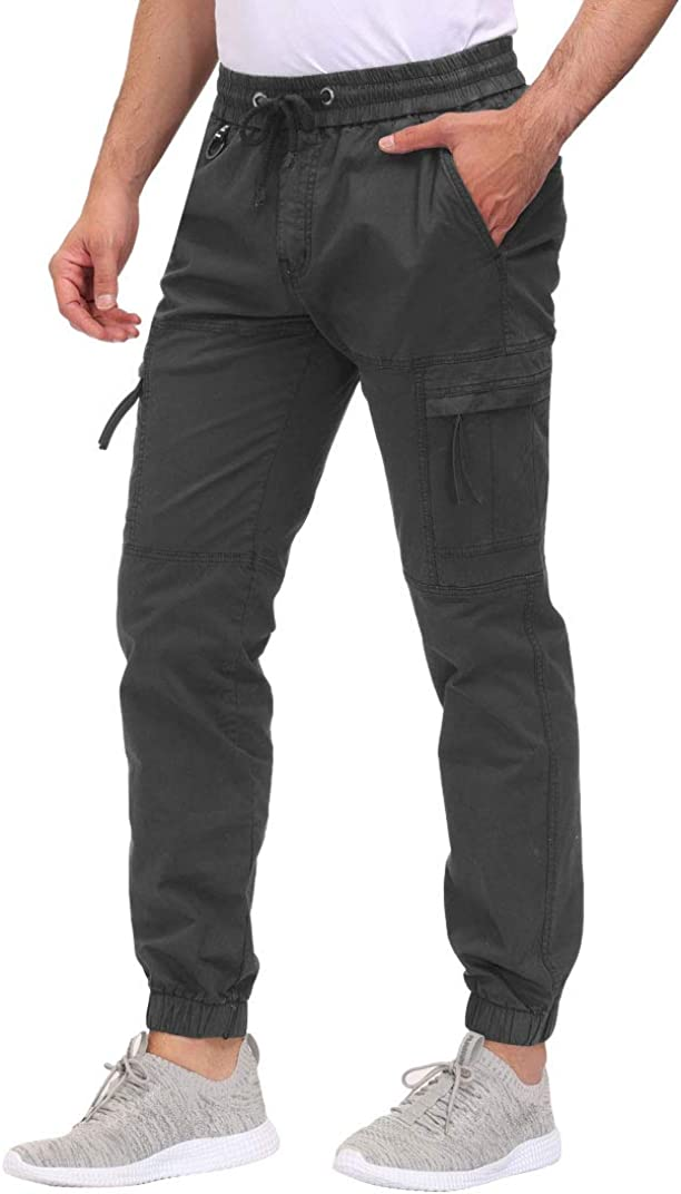 DOBOLY Men's Cargo Pants Zipper Ath Under blast Free shipping on posting reviews sales Casual Pockets Outdoor