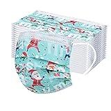 Erwachsene Mundschutz Multifunktionstuch, Einweg 3-lagig Weihnachten Cartoon Gedruckt Maske, Staubdicht Atmungsaktive Vlies Mund-Nasenschutz Bandana Halstuch