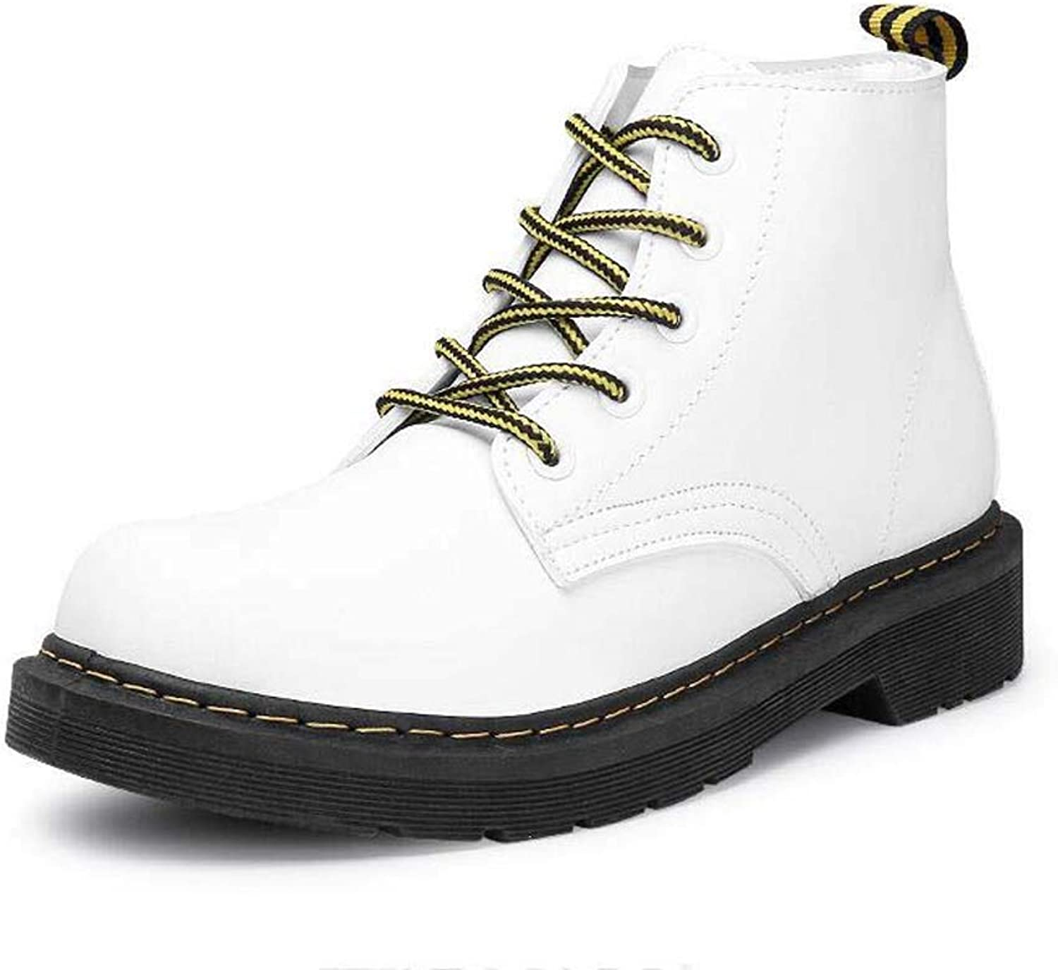 Womens Martin Boots Spring Autumn Retro Round Toe Lace Up Casual Motorcycle Ankle shoes