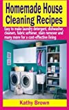 Homemade House Cleaning Recipes: Easy To Make Laundry Detergent, Dish Washer, Cleaners, Fabric Softener, Stain Remover and Many More For A Cost-Effective Living by Kathy Brown (2015-02-16)